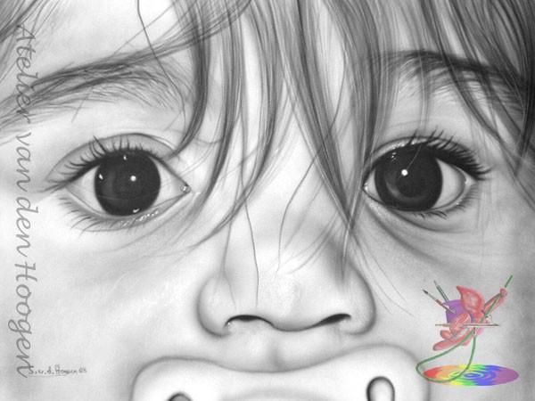 Freihand-Airbrush Portrait